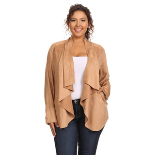 Hadari Women's Plus Size Long Sleeve Jacket