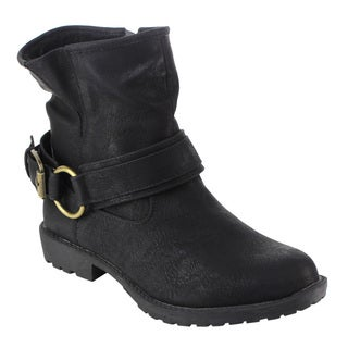 DBDK AD37 Women's Distressed Zipper Lug Sole Flat Ankle Booties Full Size Small|https://ak1.ostkcdn.com/images/products/12359425/P19186349.jpg?_ostk_perf_=percv&impolicy=medium
