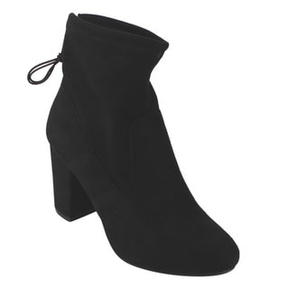 Betani FD38 Women's Drawstring Stretch Block High-heel Ankle Booties