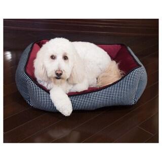 Houndstooth Cuddler Pet Bed