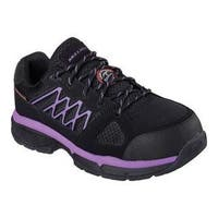 Women's Skechers Work Relaxed Fit Conroe Kriel ESD Safety Toe Shoe Black/Purple