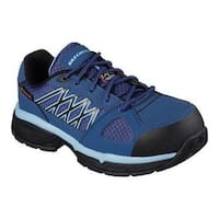 Women's Skechers Work Relaxed Fit Conroe Kriel ESD Safety Toe Shoe Navy/Blue
