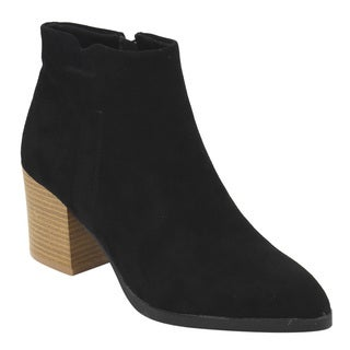 QUPID Women's FC74 Ankle-high Chunky Block-heel Booties
