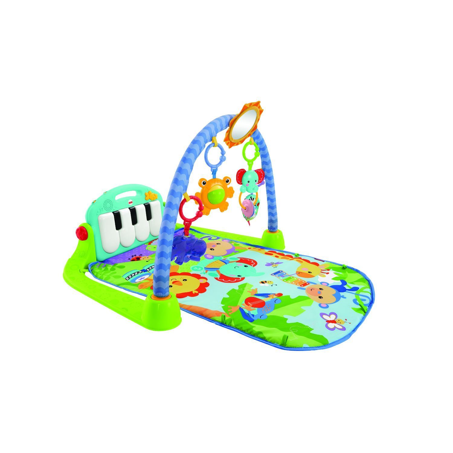 Fisher Price Kick and Play Piano Gym, Grey