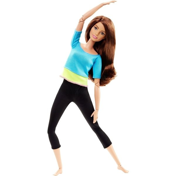 Mattel Barbie Made to Move Barbie Doll, Blue Top