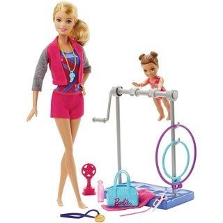 Mattel Barbie Gymnastic Coach Dolls and Playset