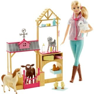 Mattel Barbie Farm Vet Doll and Playset