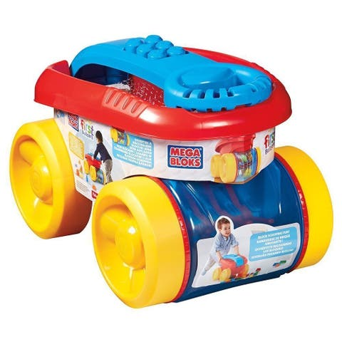 Mega Bloks First Builders Block Scooping Wagon