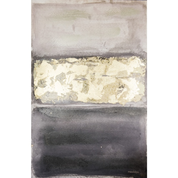 Shop Hadden Spotts Black Grey Gold Abstract 24 Inch X 36