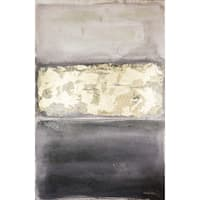Hadden Spotts Black/Grey/Gold Abstract 24-inch x 36-inch Canvas Art