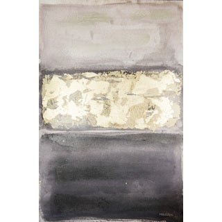Hadden Spotts Black/Grey/Gold Abstract 24-inch x 36-inch Canvas Art