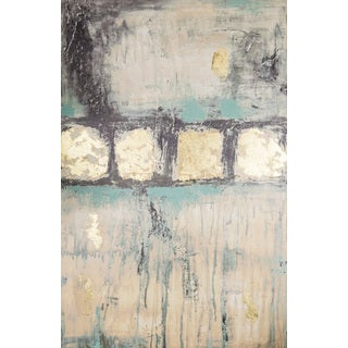 Hadden Spotts 24-inch x 36-inch Teal Abstract Canvas Wall Art