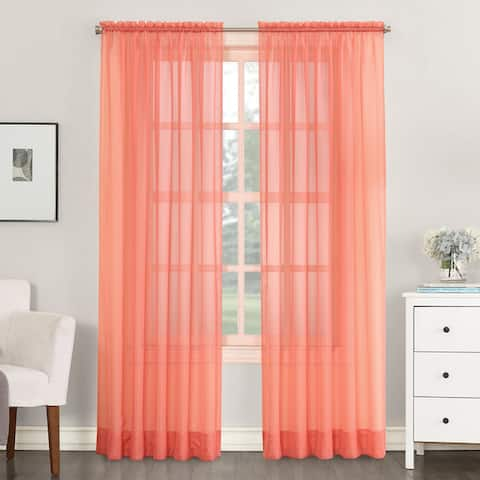 918 Emily Sheer Voile Single Curtain Panel