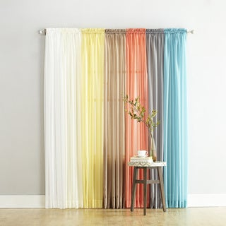 Emily Sheer Polyester Voile Single Curtain Panel