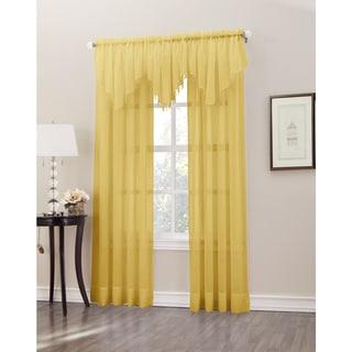 Erica Sheer Crush Voile Single Ascot Curtain Valance