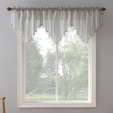 No. 918 Erica Sheer Crush Voile Single Ascot Curtain Valance