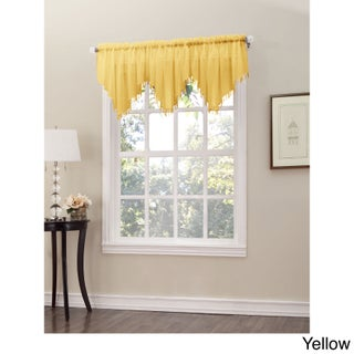 No. 918 Erica Sheer Crush Voile Single Ascot Curtain Valance - 51x24 (Option: Yellow)