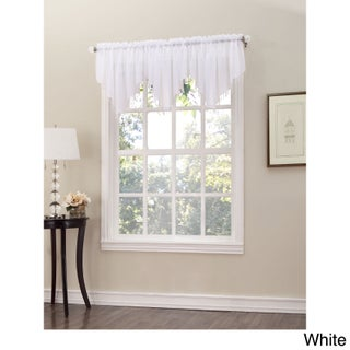 No. 918 Erica Sheer Crush Voile Single Ascot Curtain Valance - 51x24 (2 options available)