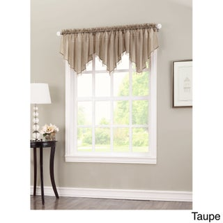 No. 918 Erica Sheer Crush Voile Single Ascot Curtain Valance - 51x24 (Option: Taupe)