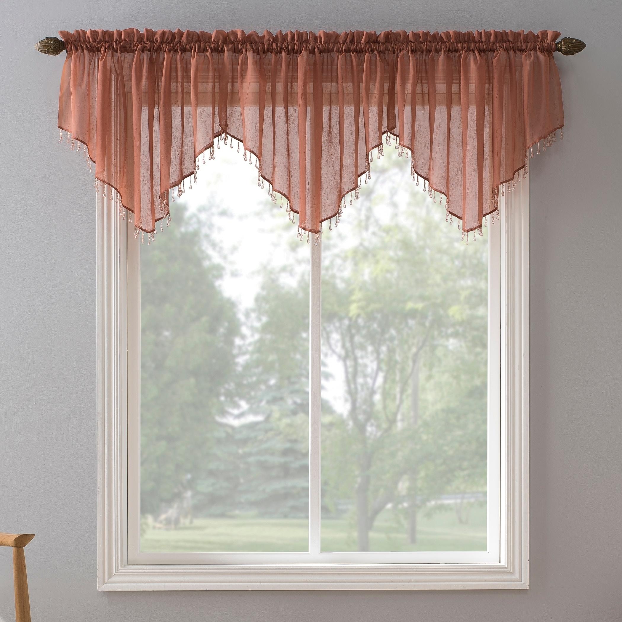 No 918 Erica Sheer Crush Voile Single Ascot Curtain Valance
