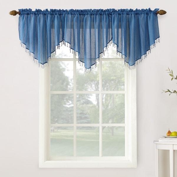 Designers pattern.window topper Blue Valance.Flamingo Premier Navy Slub Blue /& White Window topper Choose  your sizes Window treatment
