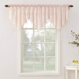 Erica Sheer Crush Voile Single Ascot Curtain Valance