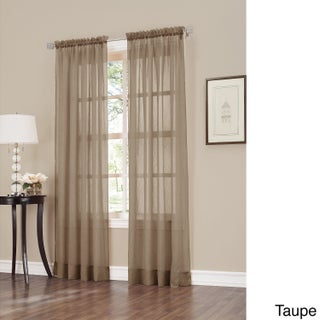 No. 918 Erica Sheer Crushed Voile Single Curtain Panel (3 options available)