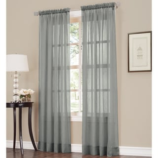 918 Erica Sheer Crushed Voile Single Curtain Panel