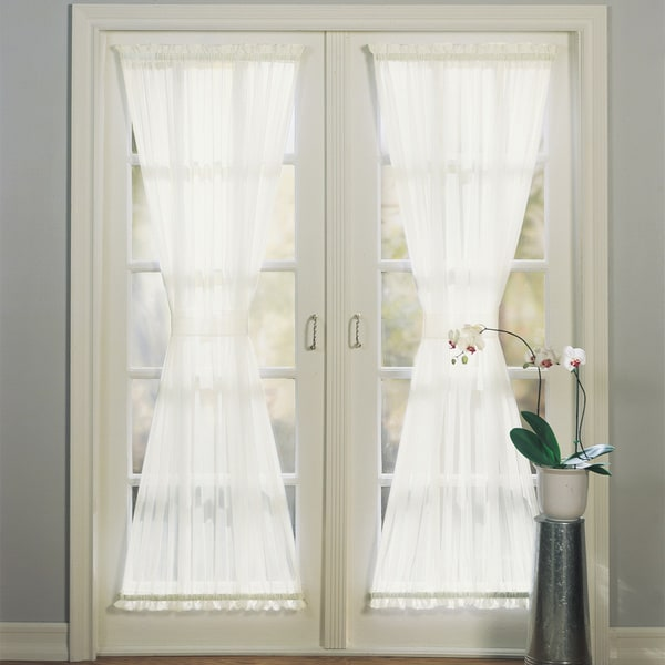918 Emily Sheer Voile Single Solid-colored Patio Door Curtain Panel - Shop No. 918 Emily Sheer Voile Single Solid-colored Patio Door