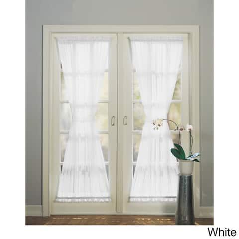No. 918 Emily Sheer Voile Solid Single Patio Door Curtain Panel