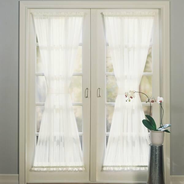 Solid Single Patio Door Curtain