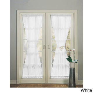 Emily Sheer Voile Single Solid-colored Patio Door Curtain Panel