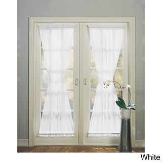 918 Emily Sheer Voile Single Solid Colored Patio Door Curtain Panel
