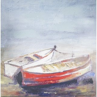 Boston Warehouse Hadden Spotts 'Canvas Boats' 30-inch x 30-inch Wall Art