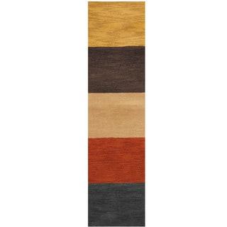 Herat Oriental Indo Hand-tufted Wool Runner (2' x 8')