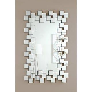 Coaster Company Little Squares Silver Frameless Mirror