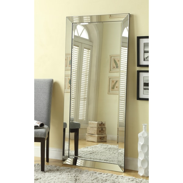 Shop Large Standing Wall Mirror with Mirror Frame - On Sale - Free ...