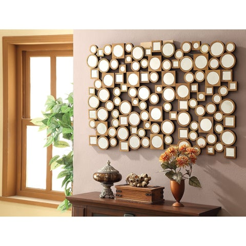 Coaster Company Round and Square Collage Wall Mirror