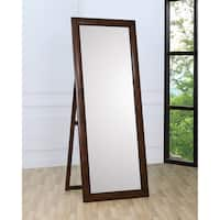 Coaster Company Hillary Brown Rectangular Floor-length Standing Mirror
