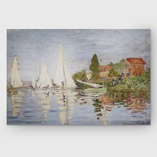 Claude Monet 'Chapelton at Argenteuil' Multicolored Canvas Print