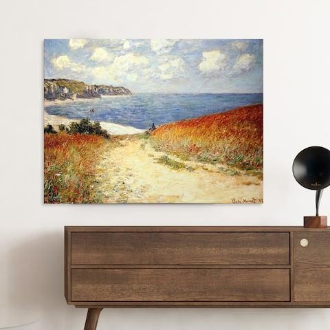 Claude Monet 'The Passage to the Sea near Pourville, 1882' Reproduction Canvas Print