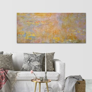 Claude Monet 'Water Lily 2' Canvas Wall Art
