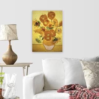 Van Gogh 'Sunflowers' Reproduction Canvas Wall Art