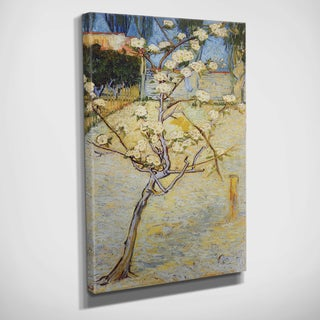 Van Goh's 1888 'Pear Tree in Blossom' Multicolored Canvas Art