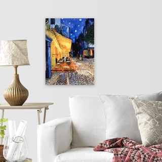 Vincent Van Gogh 'The Cafe Terrace on the Place de Forum in Arles at Night' Canvas Print Wall Art
