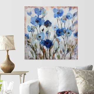 Wexford Home Abstracted Floral in Blue