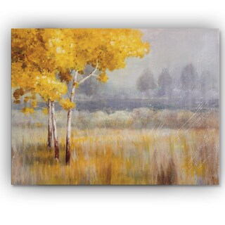 Wexford Home Danhui Nai 'Yellow Landscape' Gallery-wrapped Canvas Wall Art