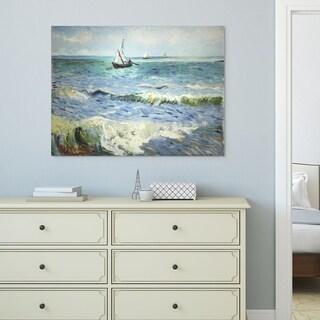 Wexford Home Vincent Van Gogh 'Seascape at Saintes' Canvas Wall Art