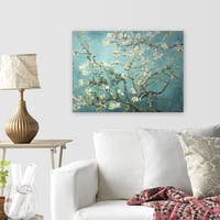 Wexford Home 'Branches with Almond Blossom' by Vincent Van Gogh Stretched Canvas Wall Art
