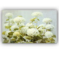 Danhui Nai 'White Hydrangea Garden' Canvas Art
